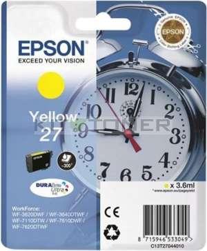 Epson C13T27044010 - Cartouche d'encre jaune d'origine Epson 27