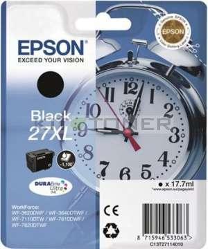 Epson C13T27114010 - Cartouche d'encre noire d'origine Epson 27XL