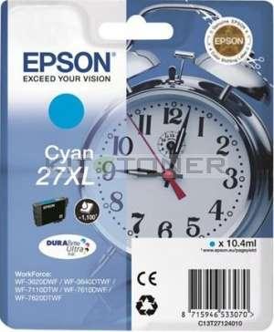 Epson C13T27124010 - Cartouche d'encre cyan d'origine Epson 27XL