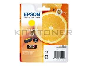 Epson C13T33444010 - Cartouche d'encre jaune 33 d'origine