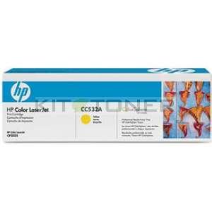 HP CC532A - Toner d'origine jaune 304A