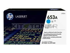 HP CF321A - Cartouche de toner cyan d'origine 653A