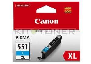 Canon CLI551C XL - Cartouche d'encre cyan de marque 6444B001
