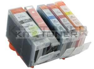 Canon CLI8C, CLI8Y, CLI8BK, CLI8M - Pack de 5 cartouches d'encre compatibles