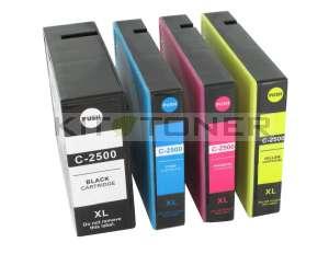 Canon PGI2500XLC, PGI2500XLY, PGI2500XLBK, PGI2500XLM - Pack de 4 cartouches d'encre compatibles