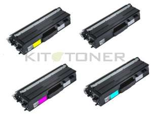 Brother TN423C, TN423Y, TN423M, TN423K - Pack de 4 toners compatibles 4 couleurs