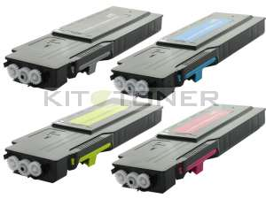Dell 593BBBT, 593BBBS, 593BBBU, 593BBBR - Pack de 4 toners compatibles 4 couleurs