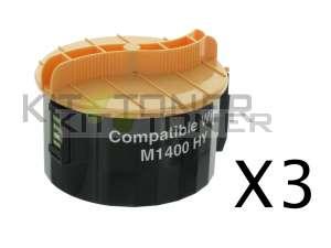 Epson S050651 - Pack de 3 cartouches de toner compatibles