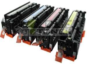 HP CC530A, CC533A, CC532A, CC531A - Pack de 4 toners compatibles 4 couleurs 304A