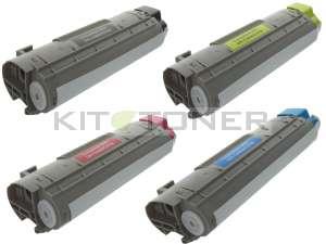 Oki 43324408, 43381906, 43381905, 43381907 - Pack de 4 toners compatibles 4 couleurs