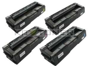Ricoh 406052/53/54/55 220 – Pack de 4 cartouches toner compatibles