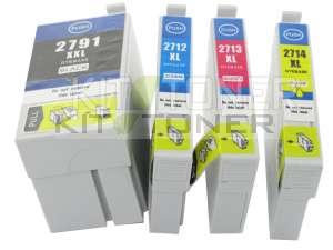 Epson C13T27154010 - Pack de 4 cartouches d'encre compatibles 27XL