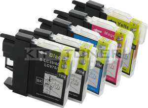 Brother LC1100VALBP - Pack de 5 cartouches d'encre compatibles