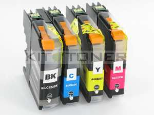 Brother LC223BK, LC223C, LC223M, LC223Y - Pack de 4 cartouches d'encre compatibles