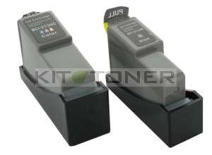Canon BCI24C, BCI24K - Pack de 2 cartouches encre compatibles