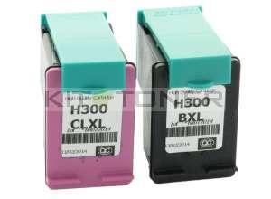 HP CC641EE, CC644EE - Pack de 2 cartouches d'encre compatibles 300 XL