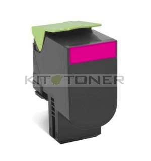Lexmark 80C2SM0 - Cartouche toner compatible magenta