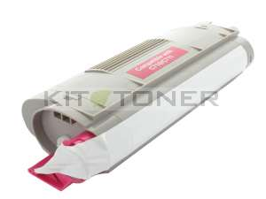 Oki 44318606 - Cartouche de toner compatible magenta