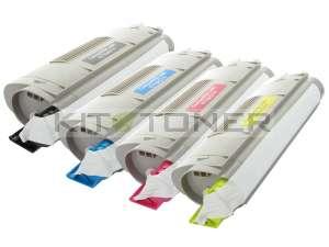 Oki 44318608, 44318606, 44318605, 44318607 - Pack de 4 toners compatibles 4 couleurs