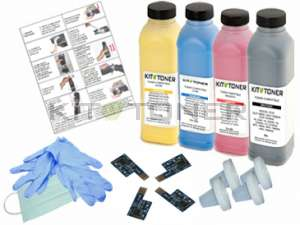 Dell 59310312, 59310315, 59310314, 59310313 - Kit de recharge toner compatible 4 couleurs