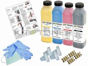 Epson S050613, S050611, S050612, S050614 - Kit de recharge toner compatible 4 couleurs