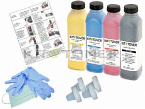 HP CF400A, CF401A, CF402A, CF403A - Kit de recharge toner compatible 4 couleurs 201X
