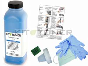 Oki 44318607 - Kit de recharge toner compatible Cyan