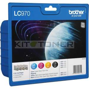 Brother LC970VALBP - Pack de 4 cartouches d'encre LC970VALBP