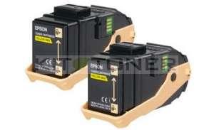 Epson S050606 - Pack de 2 cartouches de toner jaune d'origine