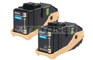 Epson S050608 - Pack de 2 cartouches de toner cyan d'origine