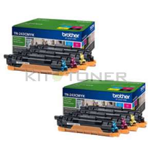 Brother TN243CMYK - Pack de 8 toners originaux