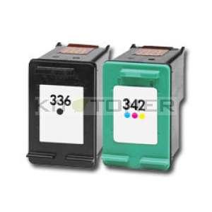 HP C9362EE, C9361EE - Pack de 2 cartouches d'encre compatible noire + couleur