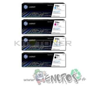 HP 216A - Pack Cartouches toner couleurs et noir