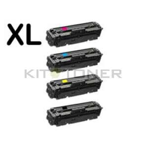 HP 415X - Pack de 4 toners remanufacturés