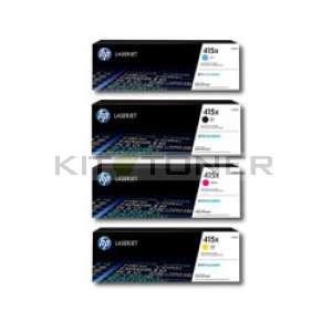 HP 415X - Pack Cartouches toner couleurs et noir