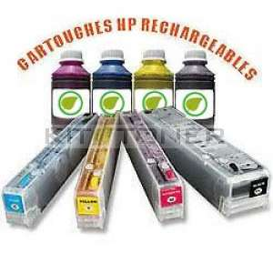 HP 973 - Pack de 4 cartouches rechargeables compatibles