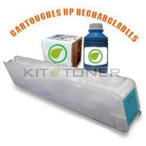 HP 973 - Kit cartouche rechargeable compatible cyan