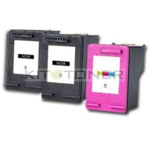 HP SA342AE - Pack de 3 cartouches d'encre compatible