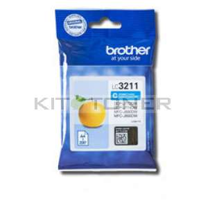 Brother LC3211C - Cartouche d'encre cyan origine Brother LC3211C