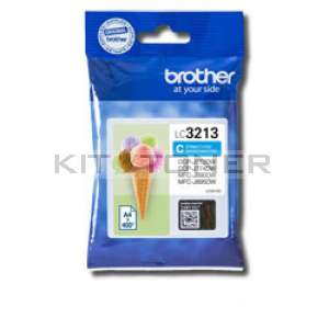 Brother LC3213C - Cartouche d'encre cyan origine Brother LC3213C