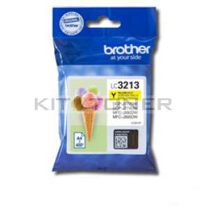 Brother LC3213Y - Cartouche d'encre jaune origine Brother LC3213Y