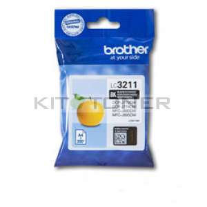 Brother LC3211BK - Cartouche d'encre noire origine Brother LC3211BK