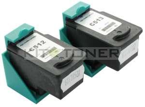 Canon CL513, PG512 - Pack de 2 cartouches d'encre compatibles