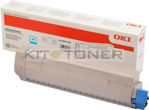 Cartouche de toner cyan d'origine Oki 46471103 pour imprimante OKI C843DN