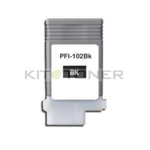 Canon PFI 102BK - Cartouche encre noire compatible PFI 102BK