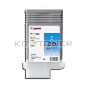 Canon PFI 102C - Cartouche encre origine cyan PFI 102C