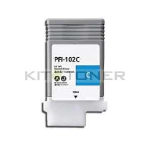 Canon PFI 102C - Cartouche encre cyan compatible PFI 102C