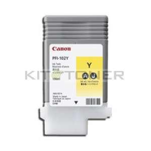 Canon PFI 102Y - Cartouche encre origine jaune PFI 102Y