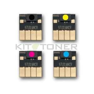 HP913A  - Puces compatibles couleurs et noire