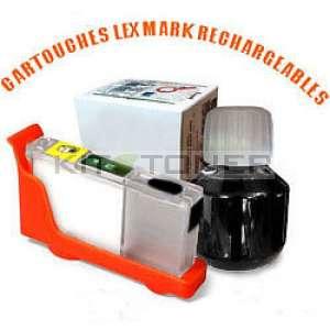 Lexmark 100 - Kit cartouche rechargeable compatible noire